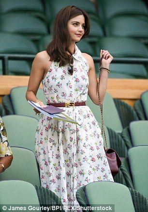 Jenna Coleman oozes summer chic in an elegant floral shirt dress