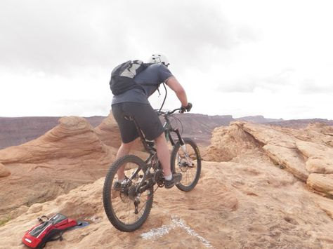 Biking Slick Rock, Moab.