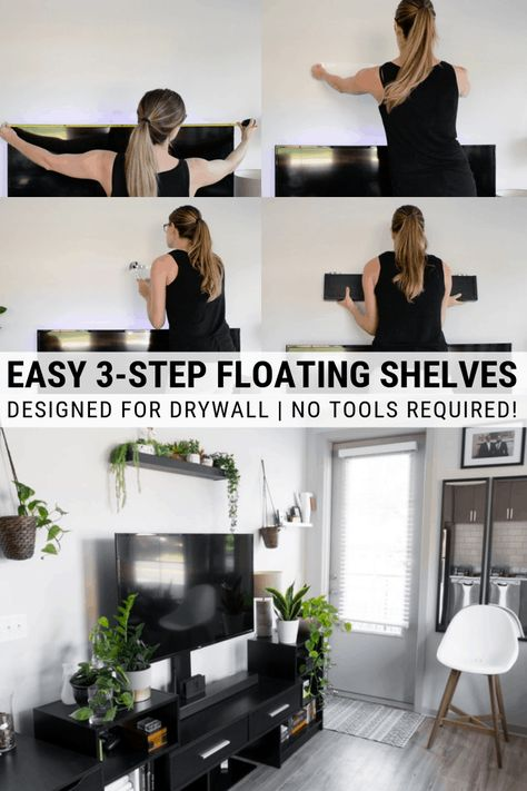 How to Hang Shelves in an Apartment