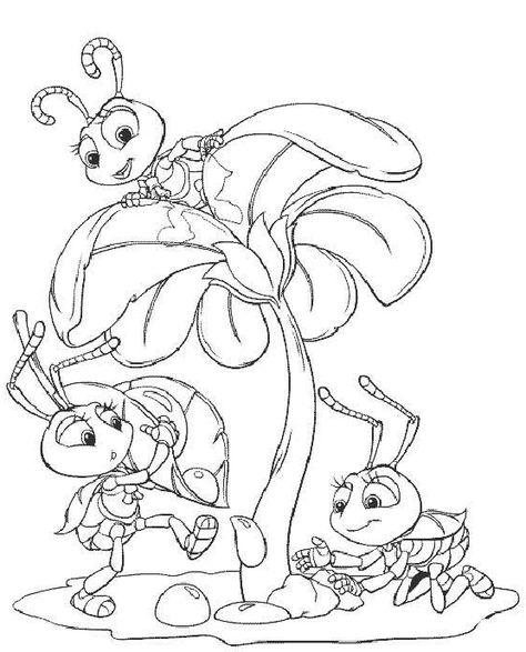 Desenhos Para Colorir Vida De Inseto 3 Pages De Coloriage Disney