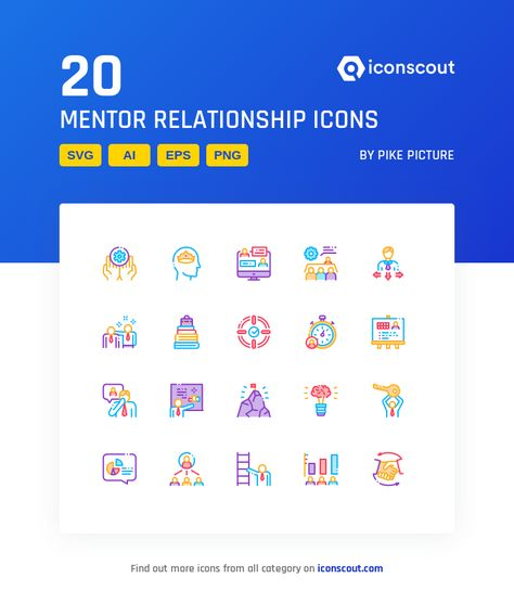 Download Mentor Relationship Icon pack - Available in SVG, PNG, EPS, AI & Icon fonts