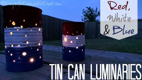 Tin Can Luminaries Craft