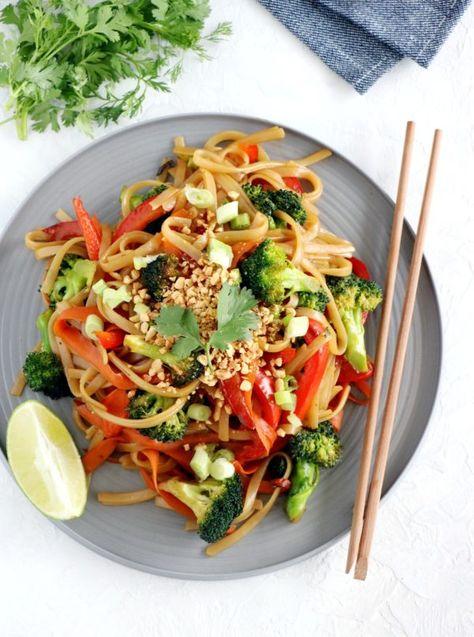 Pad Thaï végétarien cacahuètes