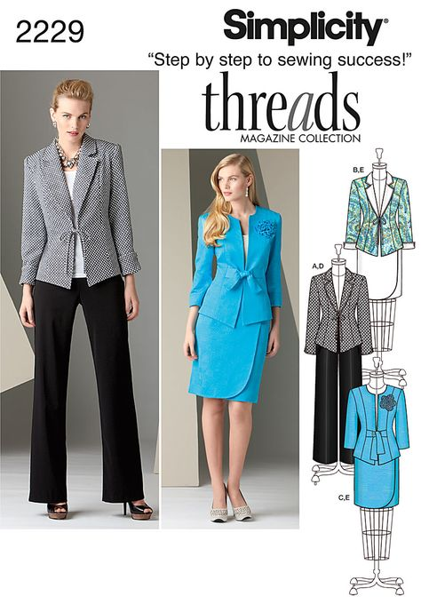 Simplicity Patterns Misses Lined Vests and Knit Top Size: K5 8054 8-10-12-14-16