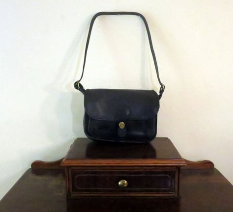 Coach Rambler Bag Black Leather Brass