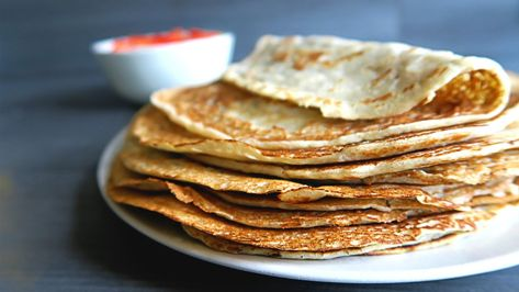 3-ingredient pancakes | dutch vegan pannenkoeken recipe [gluten