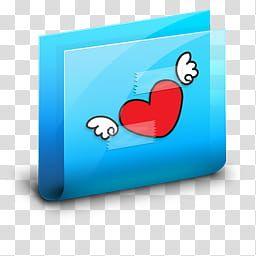 Carpetas Blue Y Pink Heart Folder Illustration Transparent Background Png Clipart Transparent Background Clip Art Free Clip Art