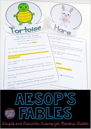 graphic about Aesop's Fables Printable titled Aesops Fables People Theater (Scripts Personality Crown
