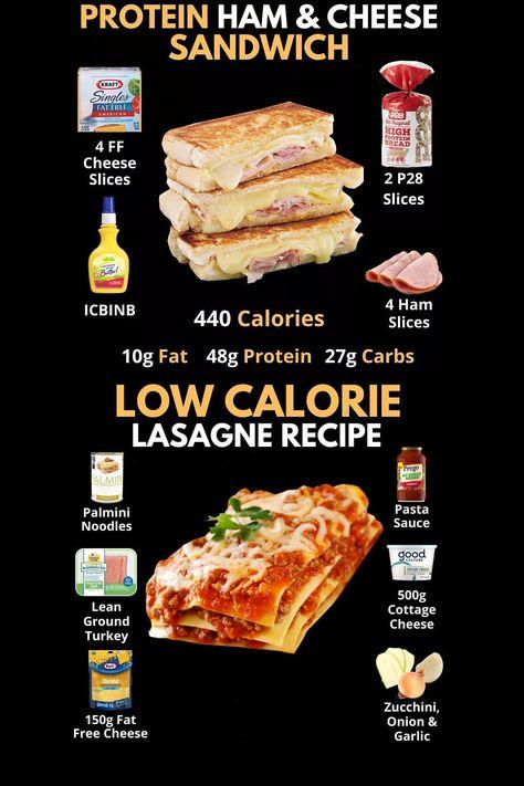 Protein Sandwich And Lasagne Recipe