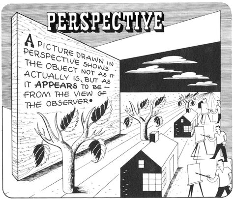 Step 01 perspective1 Basics of 1 Point and 2 Point Perspective   AKA Parallel and Angular Perspective Lesson