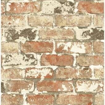 Eichelberger 34 45 X 20 87 Brick Wallpaper Roll Brick Wallpaper Faux Brick Walls Faux Brick Wallpaper