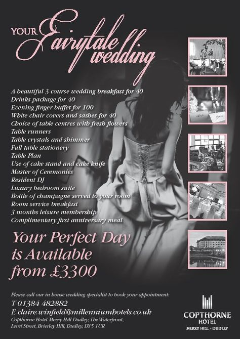Have A Fairytale Wedding At The Copthorne Hotel Merry Hill With This Amazing Package White Chair Covers Copthorne Hotel Wedding Breakfast