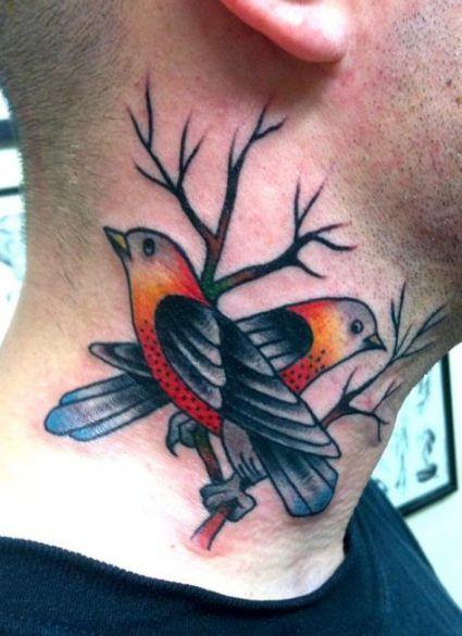 Bird Neck Tattoos For Guys : tattoos, Traditional, Tattoo, Ideas, Birds, Tattoo,