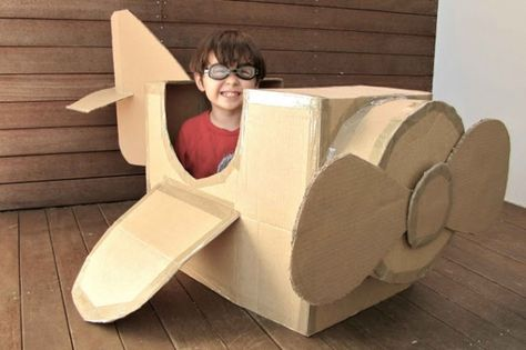 Kids craft cardboard plane - 16 Fun and Easy DIY Kid Crafts and Activities