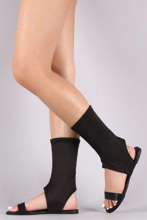 mid calf peep toe booties