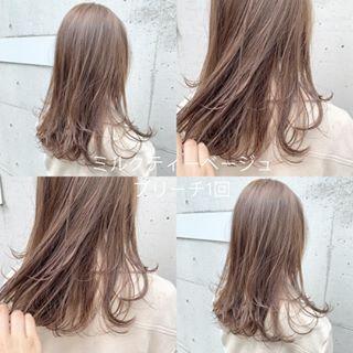 画像に含まれている可能性があるもの 1人以上 ロングヘア 美髪 髪色 ミルクティー