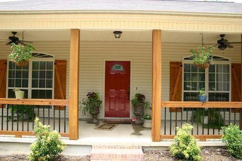 32 Cozy Farmhouse Porch Decorating Ideas You Can Steal House Front Porch Porch Remodel Modern Farmhouse Porch