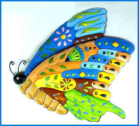 Erfly Metal Wall Art Painted Hanging