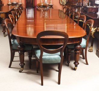 Antique 12ft Victorian Flame Mahogany D End Extending Dining Table