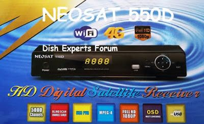 NEOSAT 550 HD New Software Update By USB | Dish Receivers
