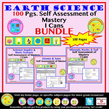 Earth Science Earthu0027s Atmosphere Student Self-Assessment of - self assessment