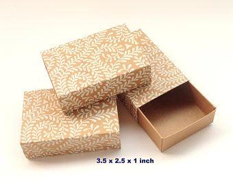 50 White Print On Kraft Boxes Packaging Box Jewelry Packaging Boxes Wedding Favor Boxes Soap Jewelry Packaging Box Bridesmaid Gift Boxes Soap Packaging Box
