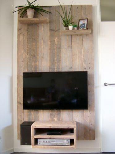 Steigerhout Televisiewand Tv Wand Wandbord Op Maat