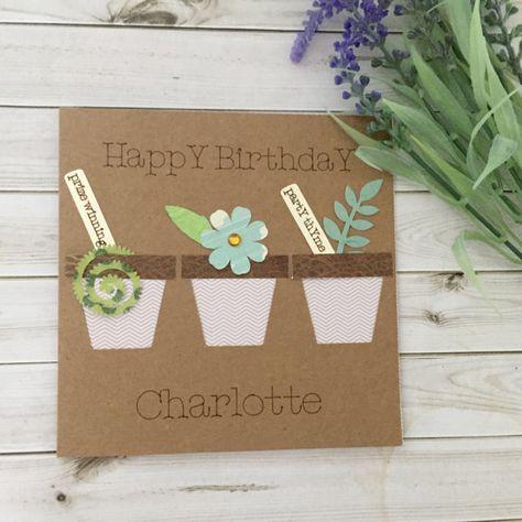 Flower Card Gardeners Birthday Garden By Connieskitchentable