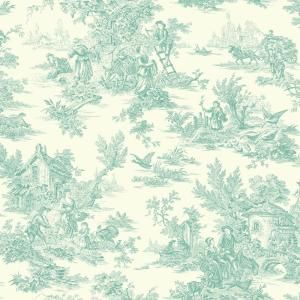 York Wallcoverings Campagne Strippable Roll Wallpaper Covers 56 Sq Ft Af2018 The Home Depot Toile Wallpaper Blue Wallpapers Toile Pattern