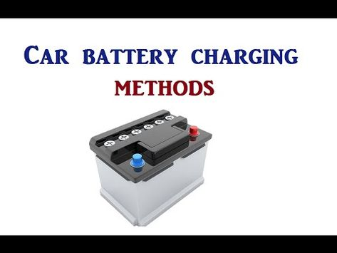 How To Charge A Car Battery Without A Charger >> Pinterest