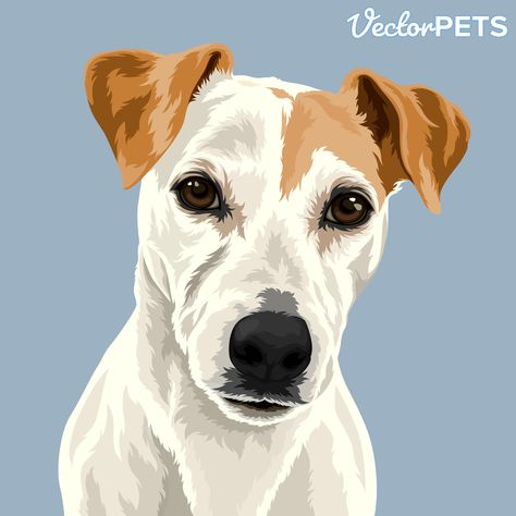 Jack Russell Dog Artwork | Pet Portraits by Vector Pets | Dog Illustrations | Dog Owner Gifts | Pets