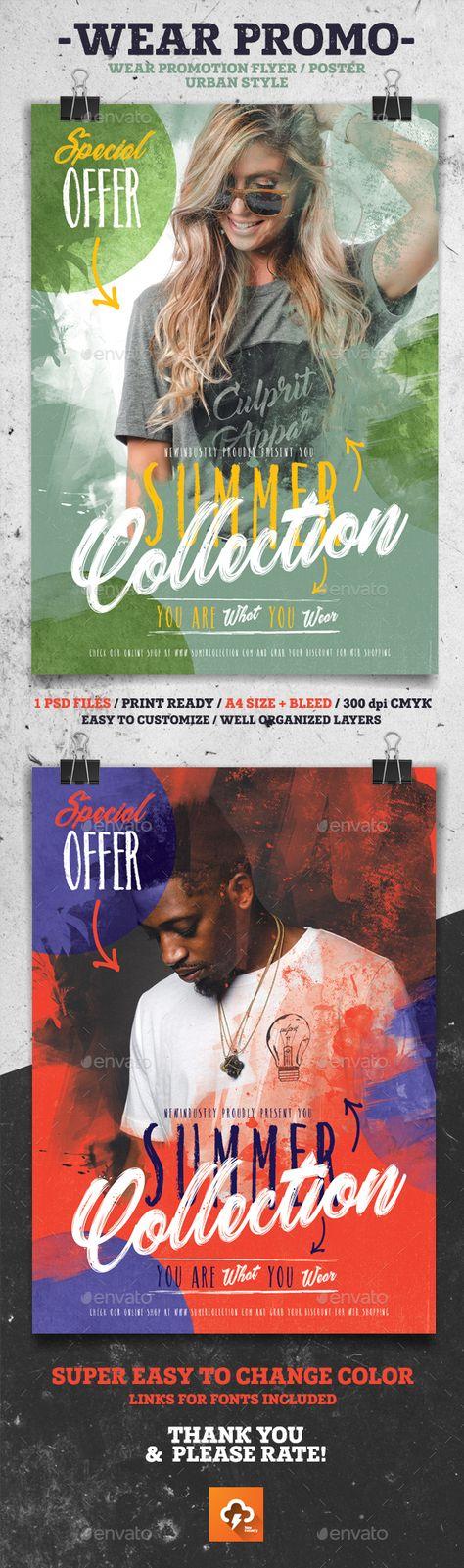 Wear Promo Poster Flyer