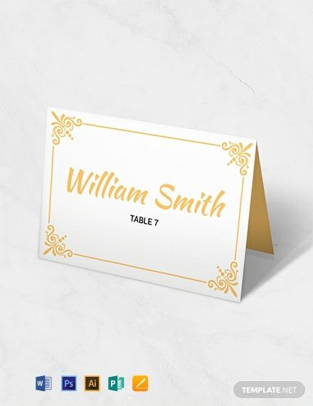 Instantly Download Free Printable Wedding Table Card Template Sample Exa Wedding Place Card Templates Free Place Card Template Printable Place Cards Wedding