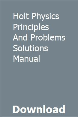 Holt physics solution manual answers magnetic force | physics.