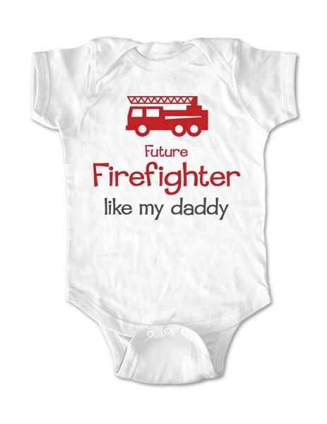 Positive Message Inspirational Kids Future Hero Future Firefighter Kids Shirt Like Mommy Like Daddy Baby Shower Gift Rompers One P