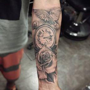 Rose Tattoo With Dove Bird Rose Tattoos For Men Rose Tattoo Design Sleeve Tattoos