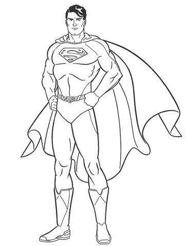 Superman Dibujo Para Colorear Superman Para Colorear Superman