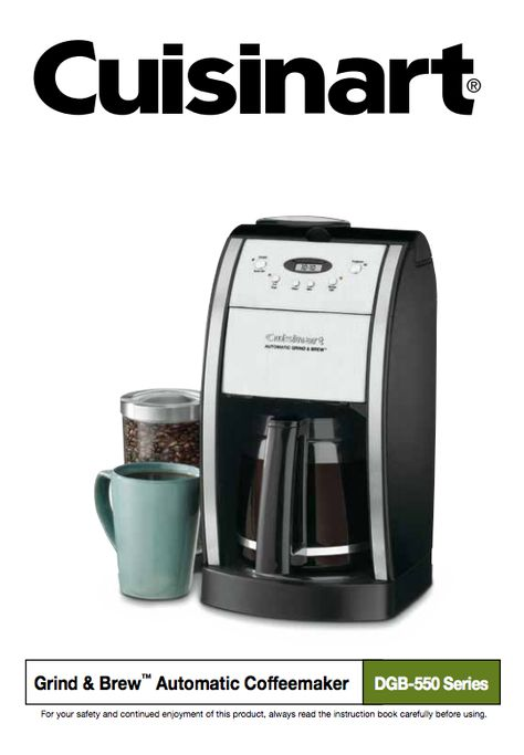 Pin On Cuisinart Coffeemaker Manuals