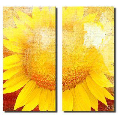 Ready2HangArt Painted Petals XCVIII Canvas Wall Art - 2 pc. Set ...