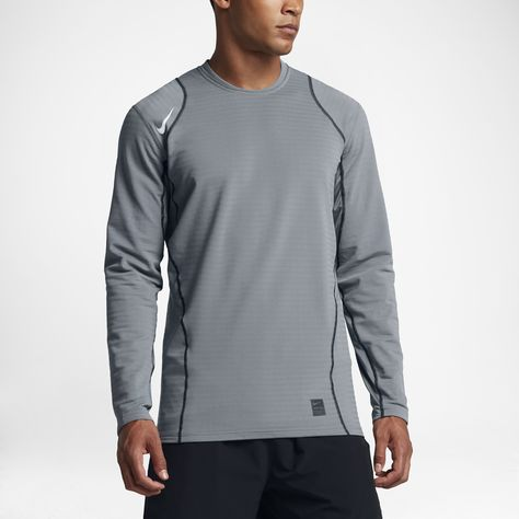 d011750f Nike Pro Warm Men's Long Sleeve Training Top Size Medium (Grey) - Clearance  Sale