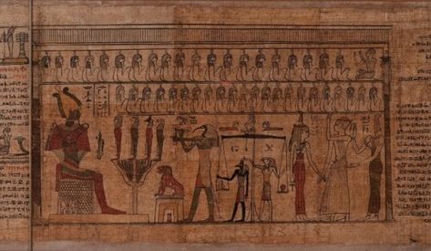 The Weighing Of The Heart Ceremony The Egyptian Art Egypt
