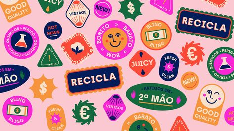 Bright branding by Raquel Marques for a second hand clothing store