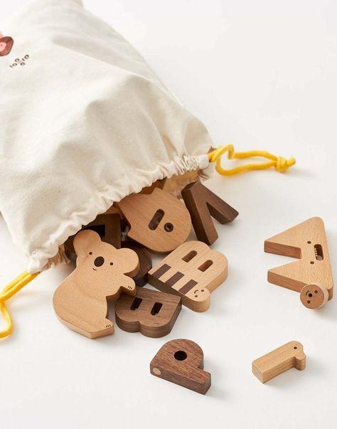 Pete the Cat 50 Piece Wood Stacking Block Set