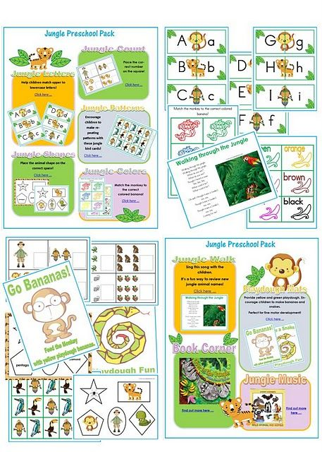 jungle preschool pack #unitplan