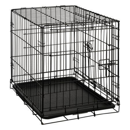 Carlson Wire Crate Double Door Small 24 Walmart Com In 2020 Wire Crate Metal Dog Kennel Diy Dog Kennel