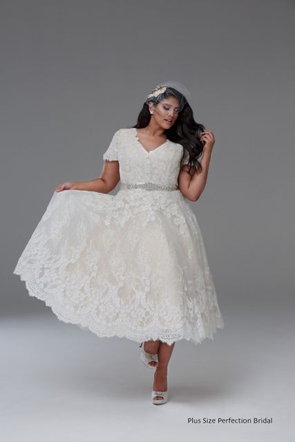 Vintage 1950 Style Plus Size Wedding Dress By Plus Size Perfection Bridal Rockabilly Wedding Dresses Plus Size Wedding Dress Short Wedding Dress Styles