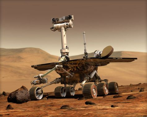 The extraterrestrial robot rolls 25 miles across the Red Planet, breaking a more than 40-year-old record for off-Earth mileage. | via c|net
