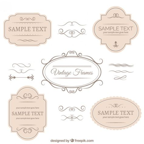 Vintage badges and ornaments collection Free Vector