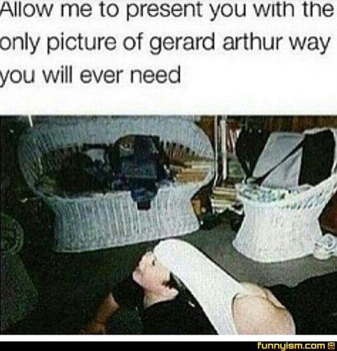 The only photo of Gerard way that matters