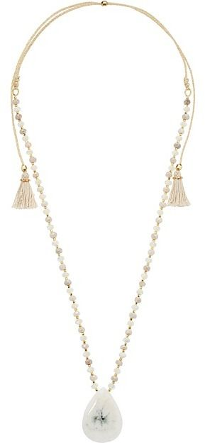 Chan Luu Tasseled Gold-plated Necklace XVri4
